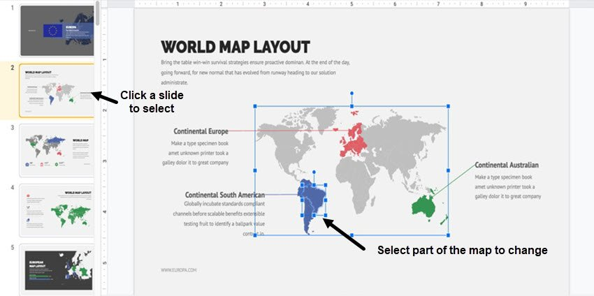 map template