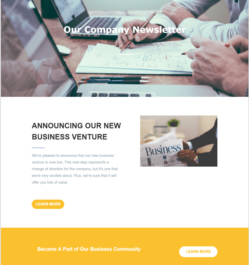 Our Company Newsletter