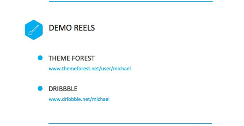 portfolio to demo reels