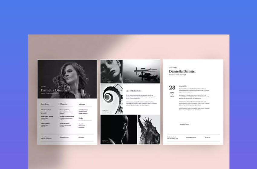 Minimal Resume Template - Modern Resume Template