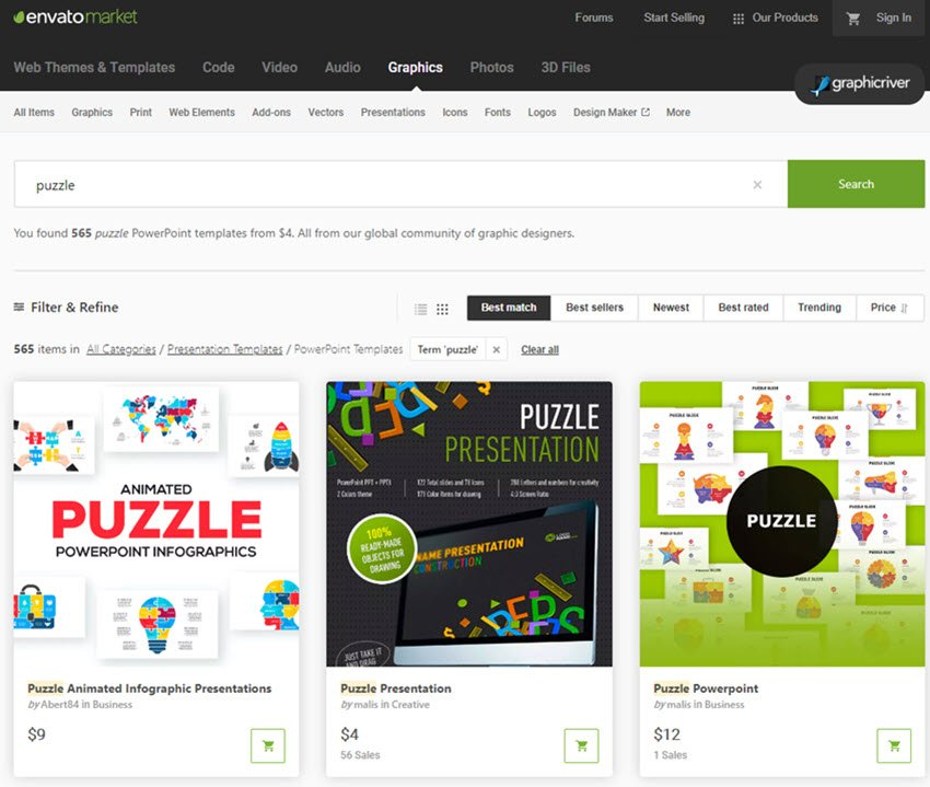GraphicRiver PowerPoint Puzzle Template