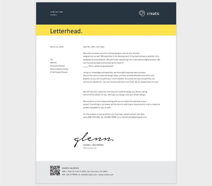 Letter Template for Word