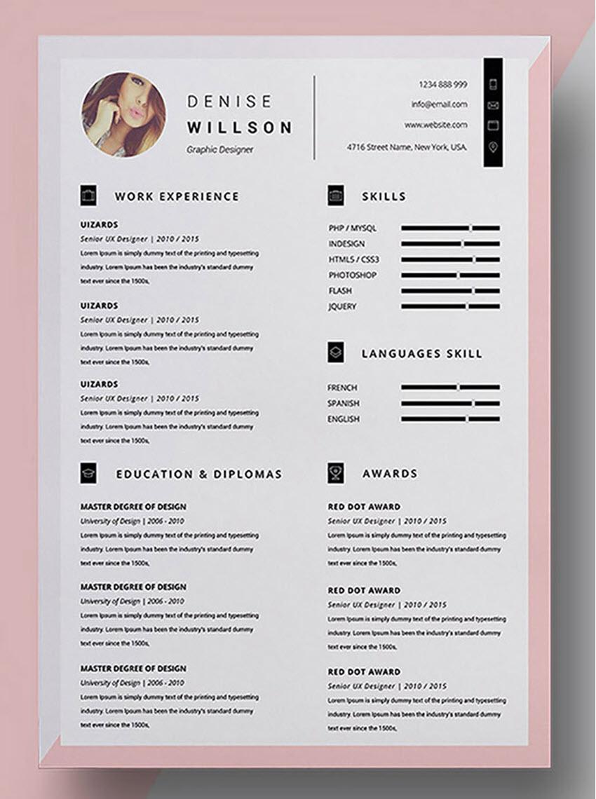 Denise CV Resume Template