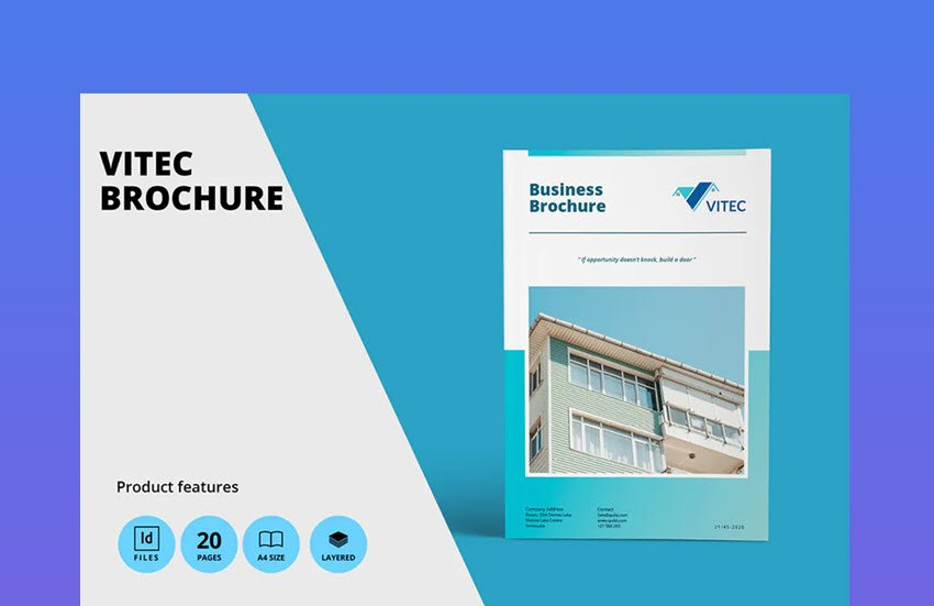Real Estate A4 Brochure Template