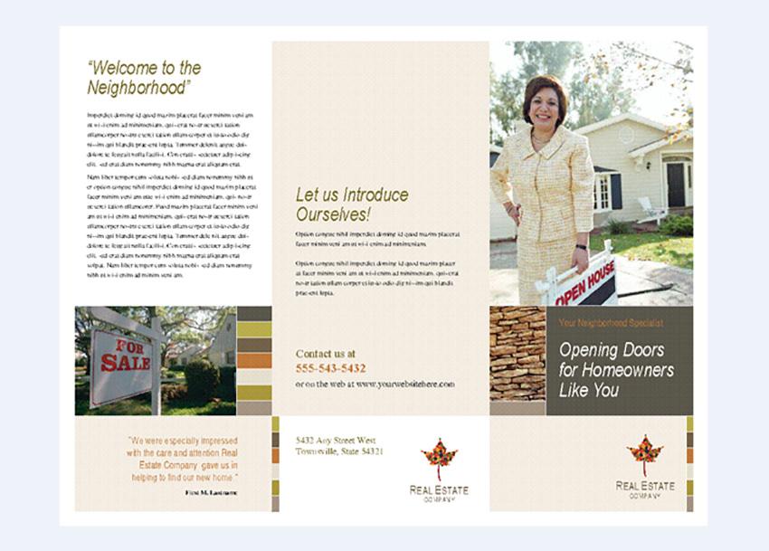 Real estate business brochure tri-fold