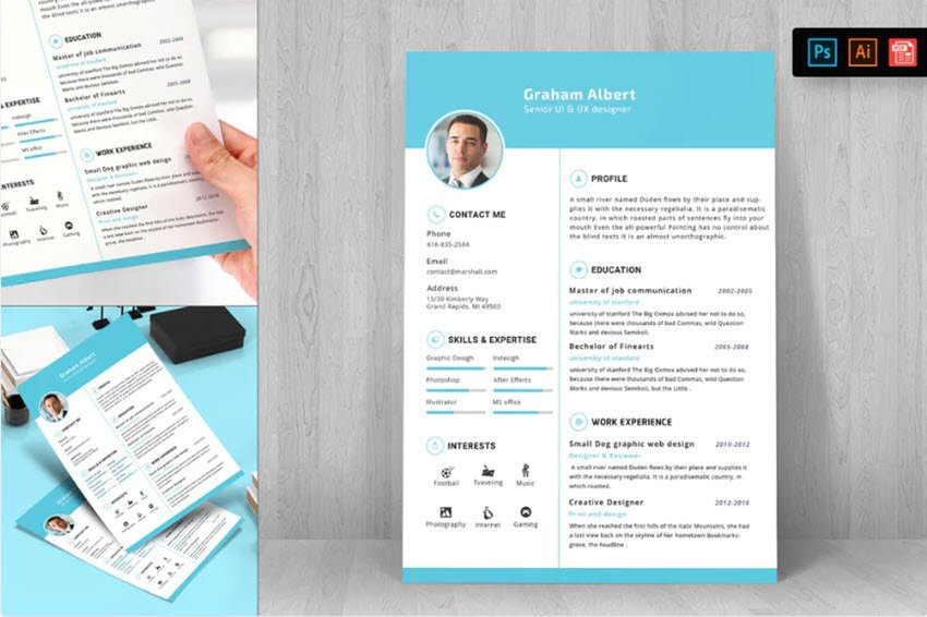 Resume CV Template 21