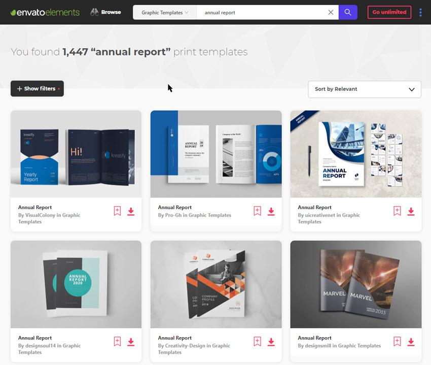 annual report design templates Envato Elements
