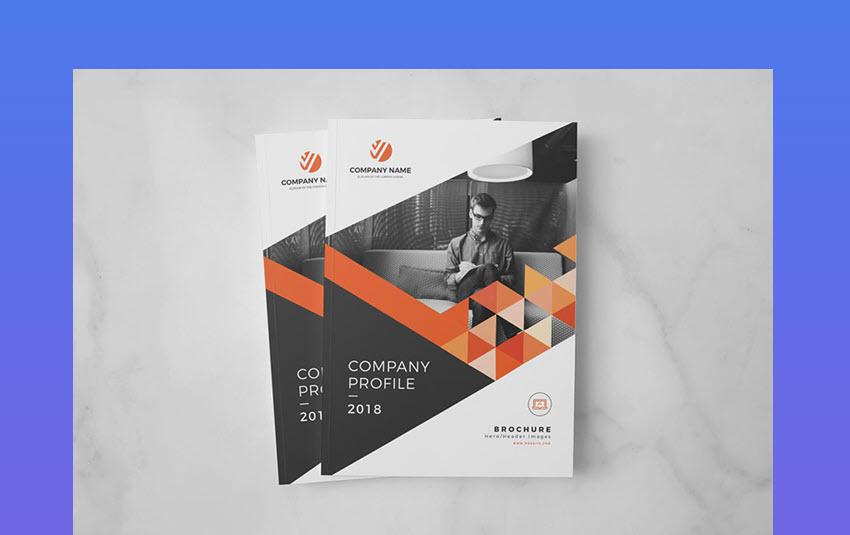 Stylish Geometric Annual Report Design