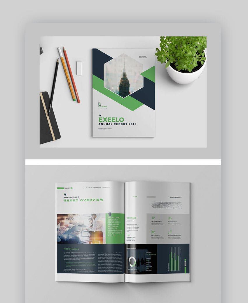 Annual Report Design Template Layout