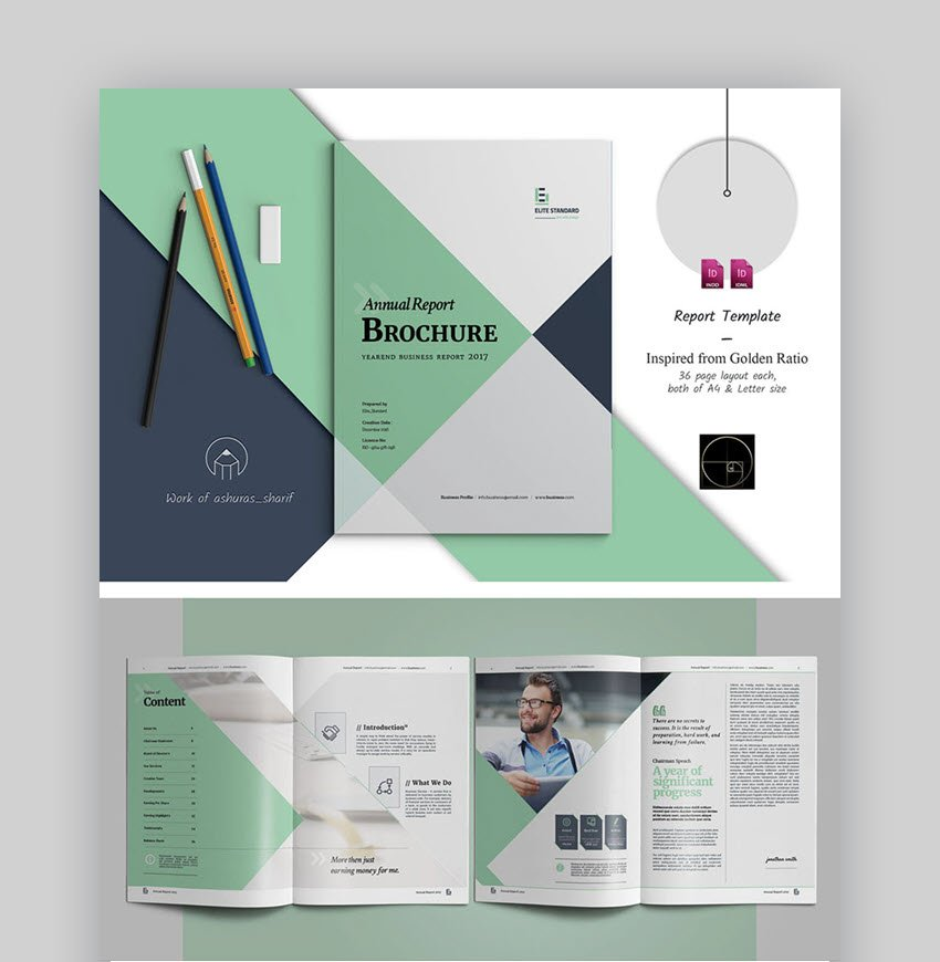 Colorful Annual Report Design Layout