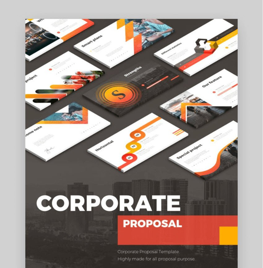 corporate business proposal presentation template
