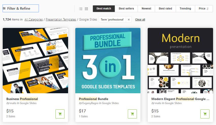 Best Google Slides Templates on GraphicRiver