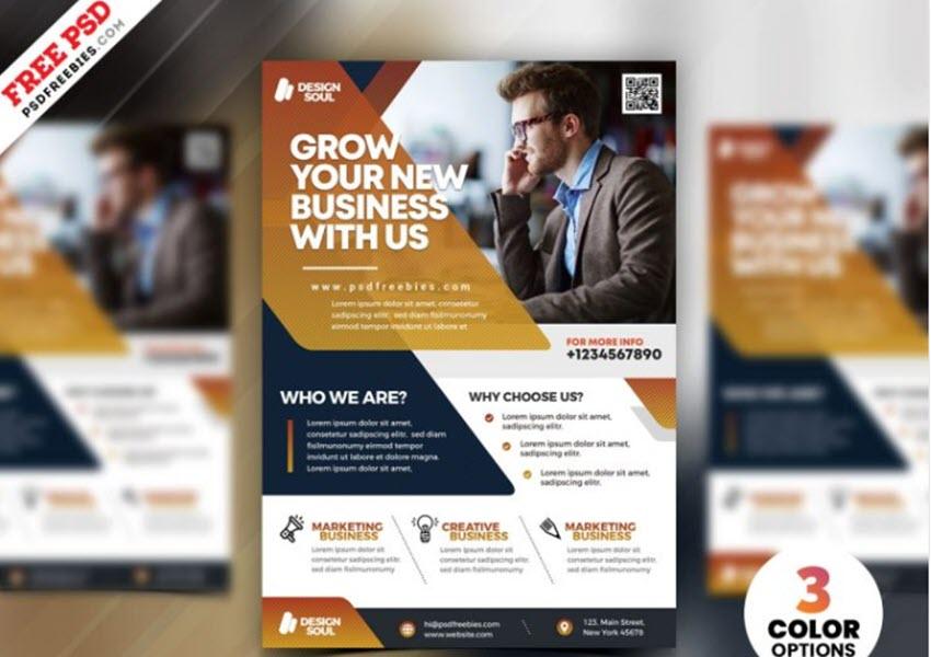 Free creative business flyer design