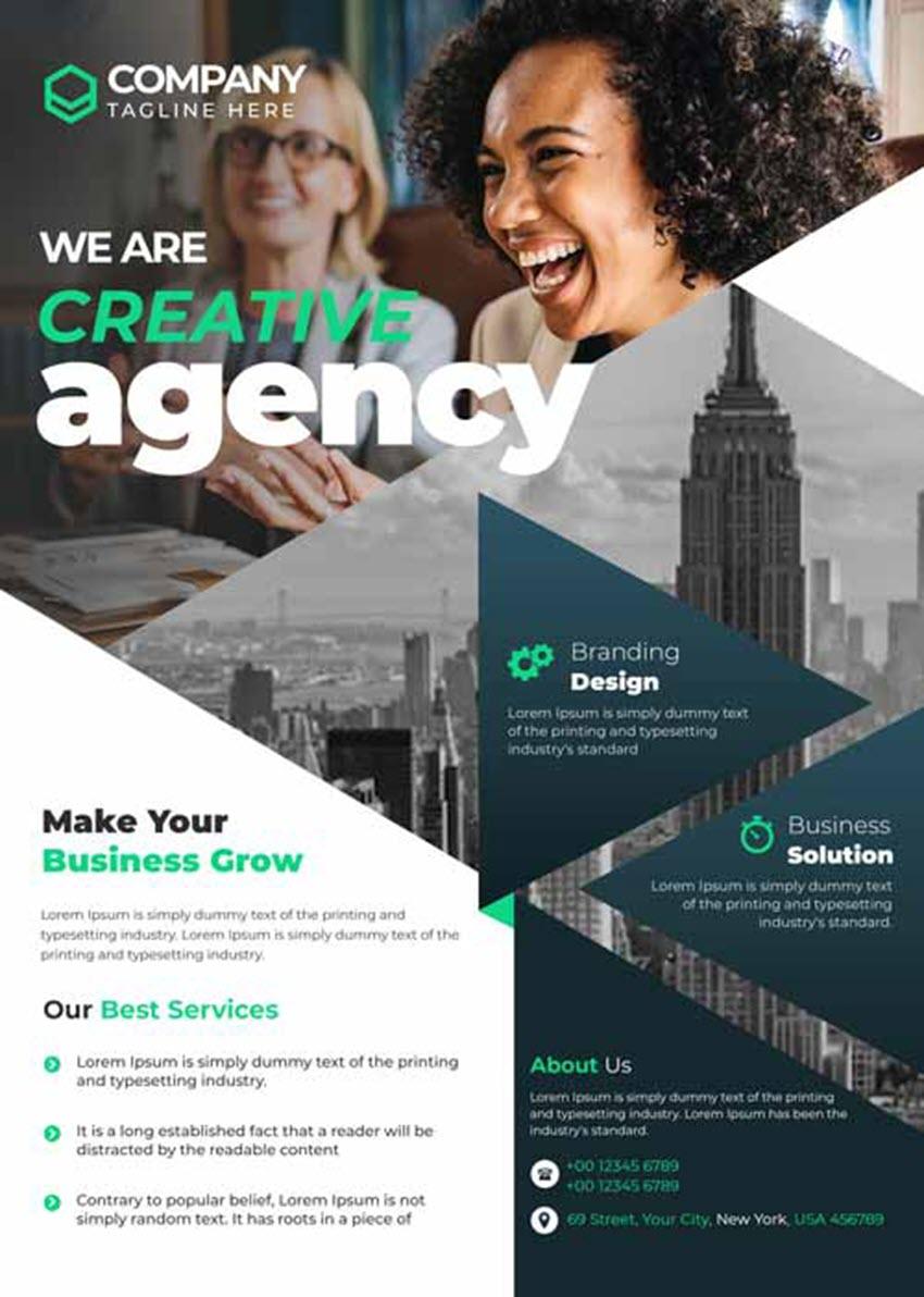 Creative Agency Flyer Template