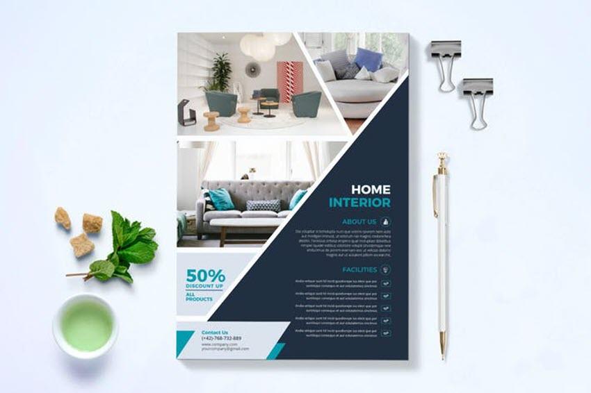 Half and Half Contemporary Flyer Design