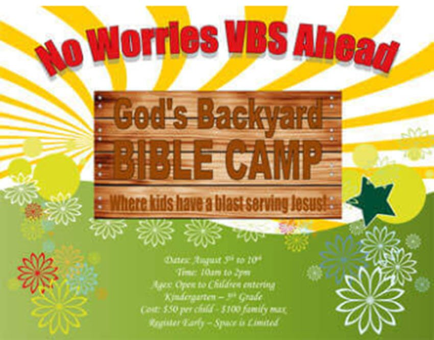 Church flyer free template for bible camp