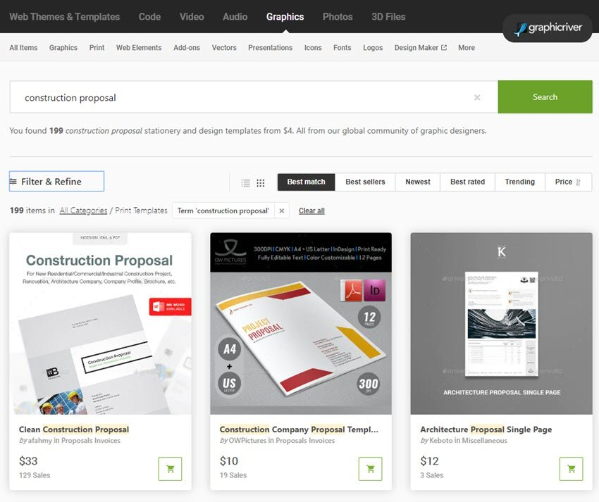 Construction Proposal Template GraphicRiver