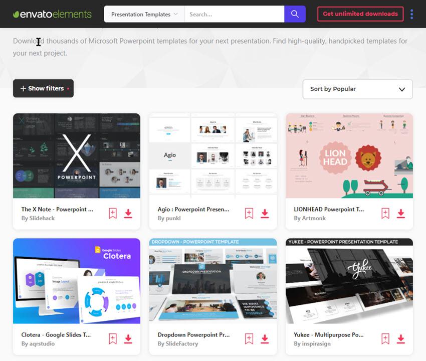 PowerPoint presentation design templates