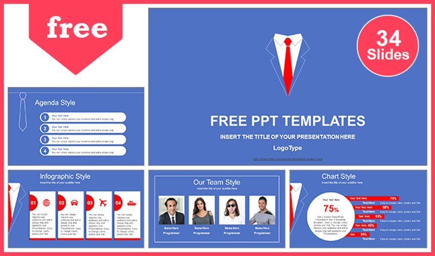 Red Tie PowerPoint Template