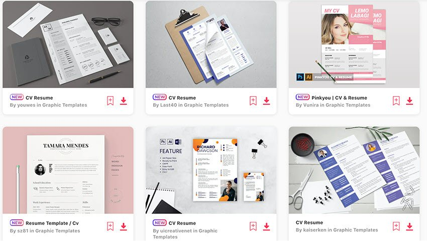 Best Selling Word and Pages Templates on Envato Elements