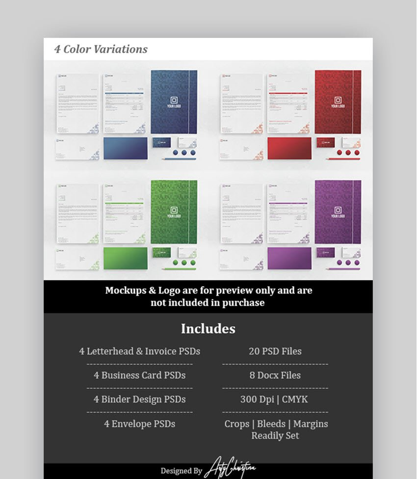 Corporate Stationery Set for Microsoft Word