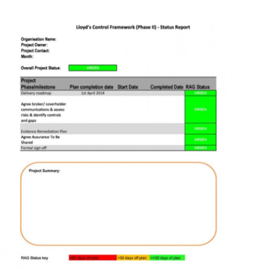 Individual Status Report