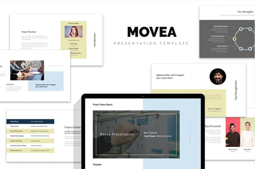 Movea Project Status PowerPoint Template