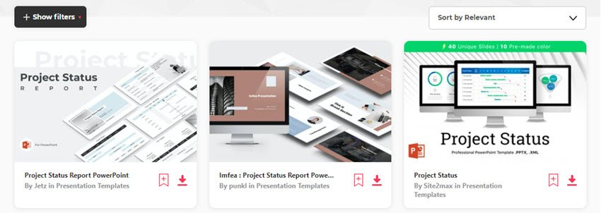Status Report Templates from Envato Elements