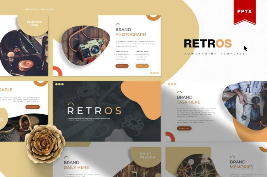 Retros Template from Envato Elements