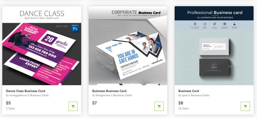 GraphicRiver Business Card Templates