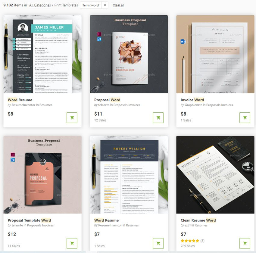 Graphic Print Templates on Envato Market