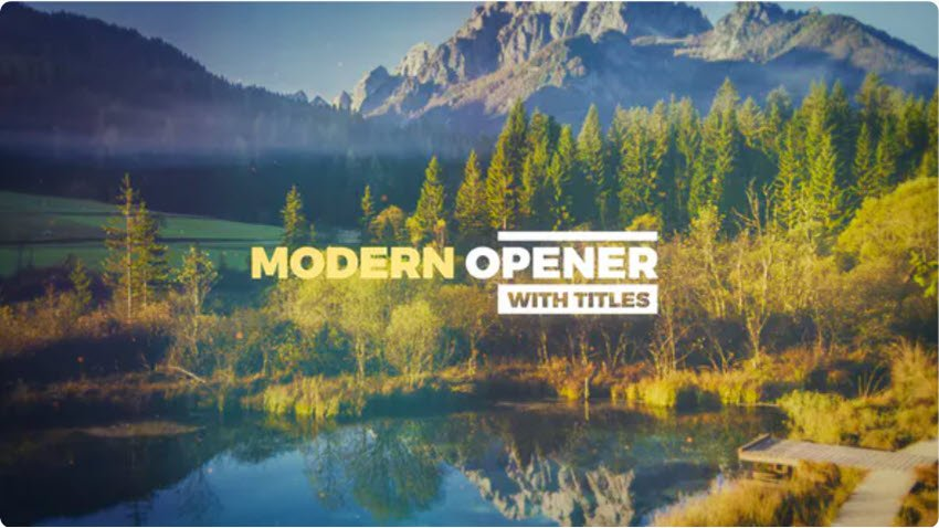 Modern Adobe After Effects Intro Templates