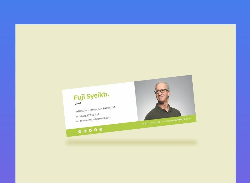 Simple Green Email Signature