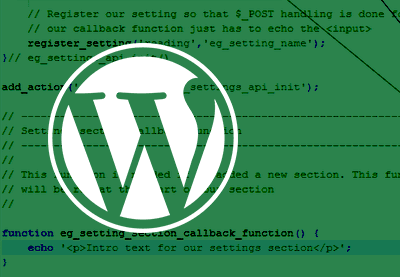 Preview for Using the WordPress Settings API