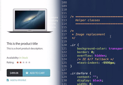 Preview for Converting an eCommerce PSD to HTML & CSS