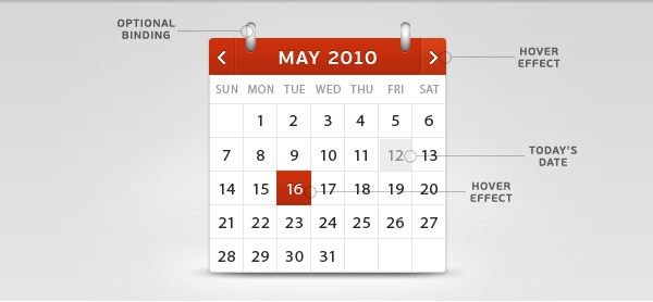 Script Calendario Html.How To Build A Beautiful Calendar Widget