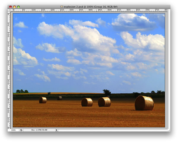 how to make rendered clouds smaller in gimp