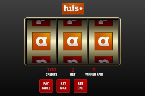 create slot machine game flash