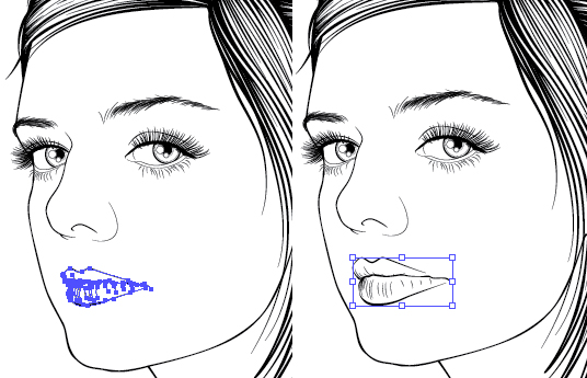 Line Art Portrait : Creating a stylish line art portrait with illustrator cs
