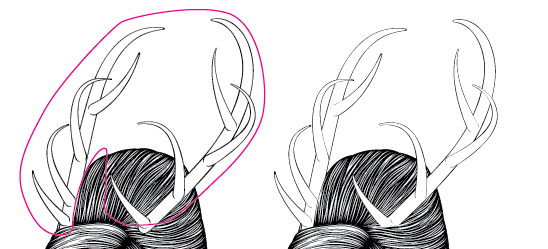 Add Details to the Hair and Antlers