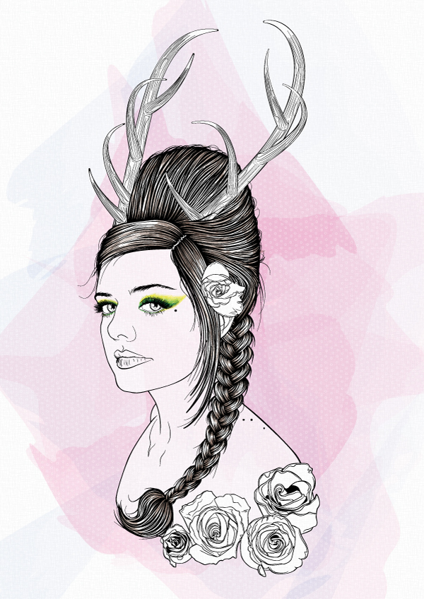 Line Art In Illustrator : Creating a stylish line art portrait with illustrator cs