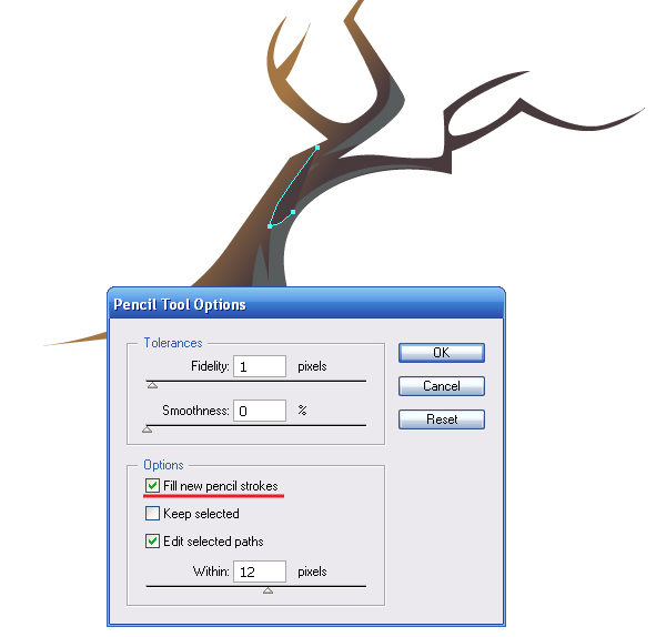 illustrator how to turn off fill on pen tool