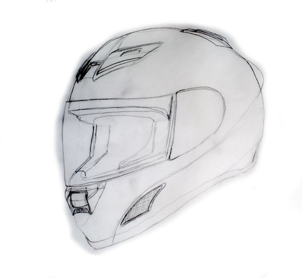 create a photo realistic motorcycle helmet in photoshop