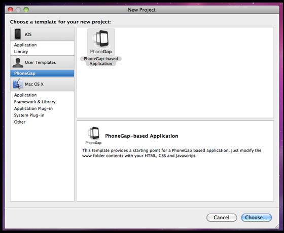 Build a cross platform twitter client deployment for Phonegap project template