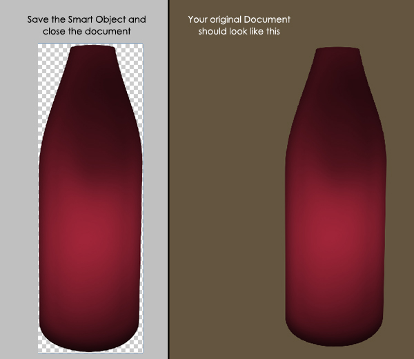 Create the Red Wine Bottle