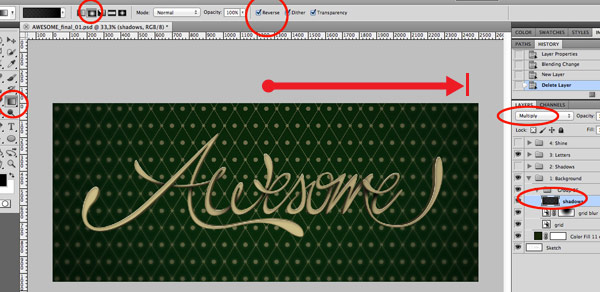 Create Awesome 3D Style Lettering in Photoshop