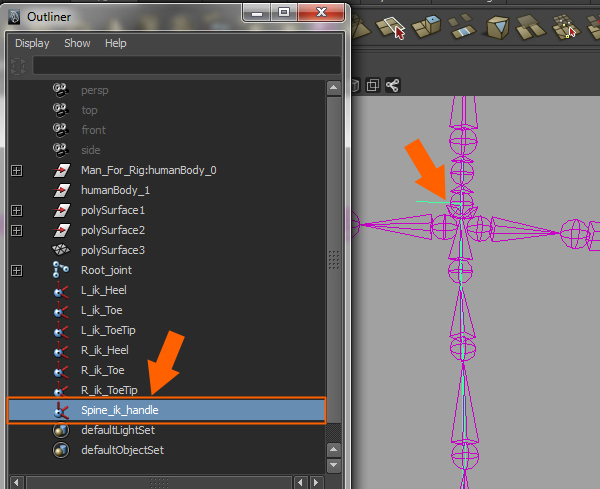 Build A Human Character Rig In Maya and Spline IK With Cluster Deformers