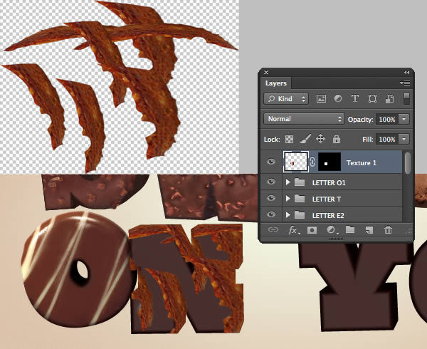 Add Texture to the Rest of the Letters