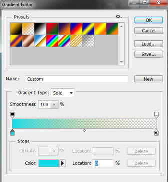 Change the color with the Gradient Tool