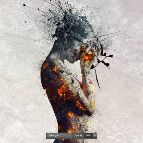 How to Create an Emotional, Molten, Shattered Statue in Photoshop